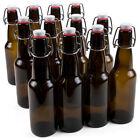 12-Pack 11 oz. Grolsch Glass Beer Bottles - Homebrew Alcohol Tea & Soda
