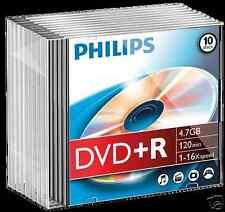 Philips DVD+R 4.7 GB, 16x Speed, Slimcase 10 Stück