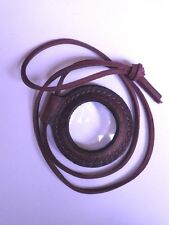 Glass Magnifying Lens for Fire Starting - Lens only or mounted in a Leather case