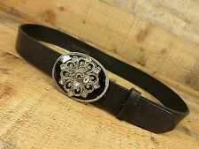 Express Leather Belt Rhinestones Black Medium 34 36 USA