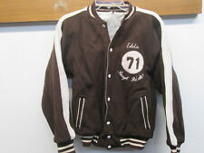 Vtg 1971 Campus Reversible Varsity Letter jacket Rough Riders Brown Wool Sport M