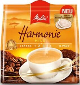 1 x 16 Coffee Pods MELITTA Harmonie mild New from Germany