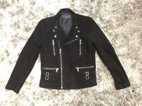 Arthur Galan Black Suede Leather Designer Jacket