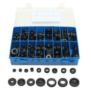 250Pcs Rubber Grommet Seals Hole Plug Set Electrical Wire Gasket Assortment