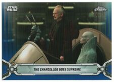 2019 Star Wars Chrome Legacy Blue Refractors 43 Palpatine Darth Sidious 34/99