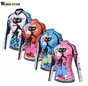 Women's Cycling Jersey Ropa Ciclismo Sportswear Bike Jersey Long Sleeve Top S-XX