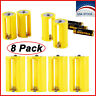 3 AA To 1 D Size Parallel Battery Adapters Holder 1.5V Converter Yellow 8pcs