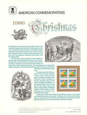 #273 22c Christmas 1986 Comtemp. #2245 USPS Commemorative Stamp Panel