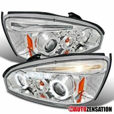 04-07 Chevy Malibu Halo LED Projector Headlight Chrome Head Lamps