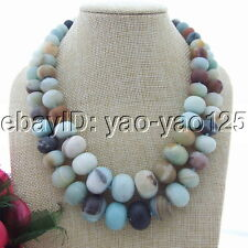 "Natural 18""-20""  10-20mm Amazonite Necklace"