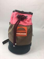 Small Drawstring Color-Block Sport Handbag in Coral Multi $495