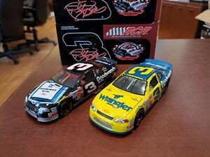 Lot of 2 Dale Earnhardt #3 Wrangler/ GM Sign RCR Museum 1:32 Diecast Action MIB