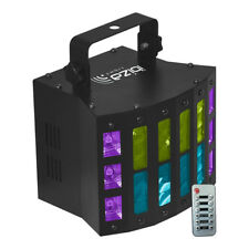 Ibiza Light 3 in 1 LED Light Effect Derby UV Strobe DMX inc IR Remote Disco DJ