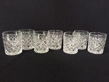 "7 Heavy Pressed Diamond Shape Juice / Water Tumblers 3 5/8"" tall x 3"""