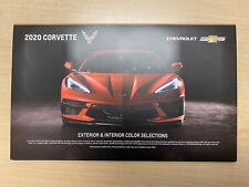 2020 Corvette Exterior & Interior Colors Selections Dealership Brochure