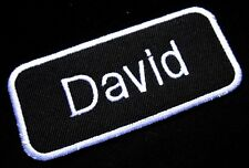 NAME TAG DAVID EMBROIDERED IRON ON PATCH + Free Shipping