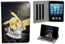 For Apple iPad Mini 1 2 3 4 Happy Pokemon Pikachu Anime Pokeball  Case Cover
