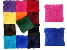 Alexa Soft Fur Cushion Solid Square Decorative Furry Shaggy Throw Plush Pillow