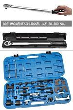 """Zahnriemen Werkzeug VW + Drehmoment-Schlüssel 1/2"""" 20-200 Nm"""