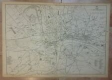 THE LANDMARKS OF LONDON (ENGLAND) 1863 by EDWARD WELLER LARGE ANTIQUE MAP