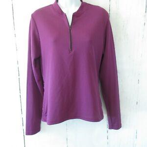 Canari Cycling Jersey M Purple Women Mountain Biking Long Sleeve Pockets
