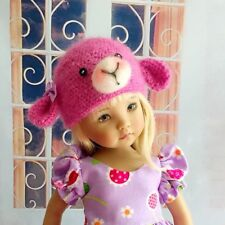 Dianna Effner Little Darling Doll Wool Lambchop Hat Dress Up Outfit
