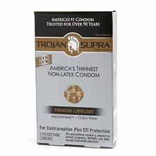 TROJAN Supra Lubricated Condoms, MicroSheer PolyurethaneUltra-Thin 6 ea