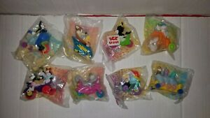 Complete set of 8 Animaniacs McDonald's Happy Meal Toys. New in Plastic. 1993