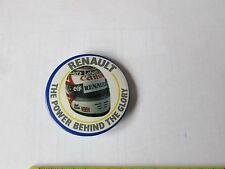 ORIGINALE Renault potenza al volante FORMULA 1/f1 ROUND TIN Button badge