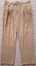 WILLIS Geiger CORDUROY Pants MENS 33 31 Beige TAN Sand PLEATED Cotton UNCUFFED**