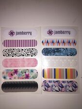 JAMBERRY Sample Sheet 2 Feature Nails: Accent Nails Fun Colours Home Mani