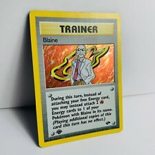 Pokemon  1st Edition Blaine Trainer Holo Rare 17/132 Gym Challenge