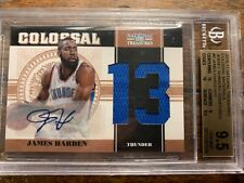 JAMES HARDEN 2010-11 PANINI NATIONAL TREASURES COLOSSAL JERSEY AUTO BGS 9.5 WOW