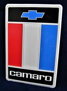 Chevy CAMARO *US MADE* Embossed Metal Sign - Man Cave Garage Shop Bar Wall Decor