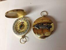 Triumph Spitfire 1500 ref260  pewter effect car emblem on a Golden Compass