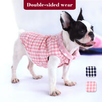 Cute Pet Winter Clothes Warm Small Medium Dogs Vest Puppy Cat Plaid Coat XS-2XL