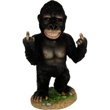 Funny Rude Finger Statue Up Yours Fuck-Off Middle Fingers Novelty Gift Gorilla