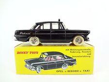 DINKY TOYS FRANCE N°546 TAXI OPEL REKORD, EXPORT, NOIR, 1963 - C9 - PEU COMMUN