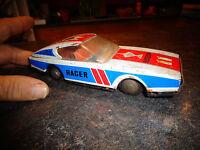 Ancienne Voiture de Course en Tôle Racecup Racer MF 257 n°11 Moteur Friction