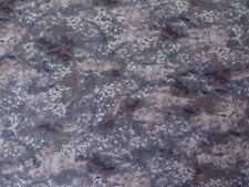 """""""Out of the Den"""" Blue, Gray & Brown Blender Quilting Treasures Fabric Material"""
