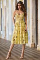 DONNA MORGAN YELLOW SUNNY LACE DRESS Dress, sz 10
