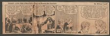 VINTAGE NEWSPAPER COMIC STRIP - TERRY AND THE PIRATES - PROVIDENCE, RI 1937