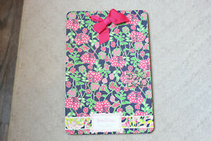 Lilly Pulitzer Magnetic Board Hanging Memo Blue Pink 18 x 12 Navy Bloomers Magne