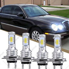 For Kia Amanti 2004 2005 2006 H7 Combo Headlight High Low Beam Led White 4 Bulbs Fits 2005 Kia Amanti