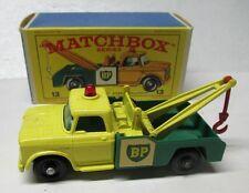 Vintage 1960's Matchbox Lesney Dodge Wreck Truck #13 In Box - Near Mint