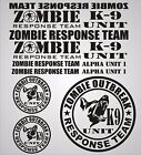 ZOMBIE OUTBREAK RESPONSE TEAM K-9 VEHICLE DECAL KIT-13 FULL SIZE HUGE STICKERS