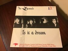 """THE DAMNED Is It A Dream 5trk 12"""" inc 2 LIVE trax"""