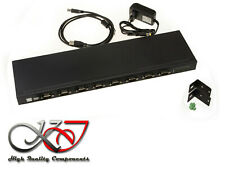 Converter USB 8 Ports RS232 Rack Mount Interface RS-232 DB9 Range Industrial