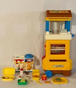 Vintage McDonald's Drive Thru Fisher Price + Food + Ice Cream Machine LOADED!