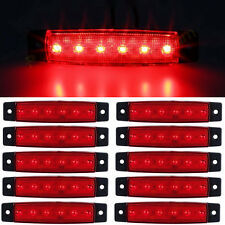 "10 Pcs Red 3.8"" 6LED Side Marker Indicators Light Truck Trailer Boat Clearance"